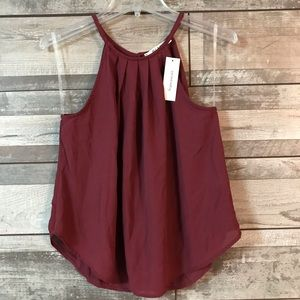 Miami maroon halter blouse Small